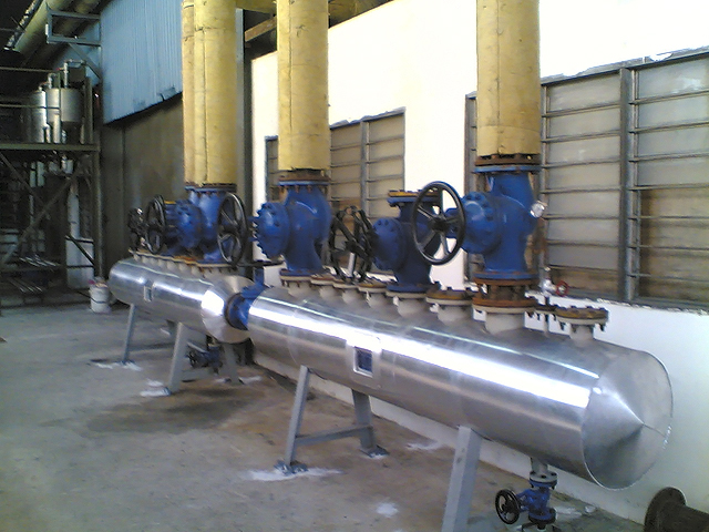 Thermal Oil Header installation